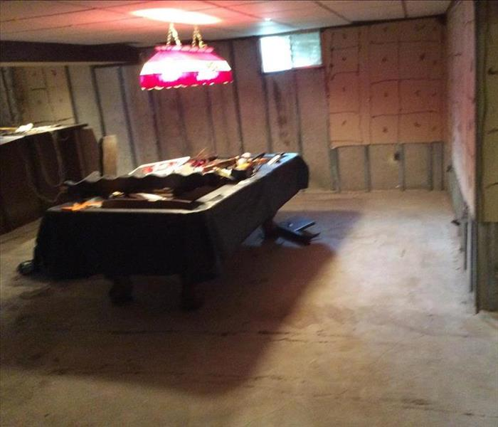 Flooded Basement in Madison, MS After